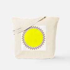 Sherbert Yellow Starburst Zig Zag Tote Bag