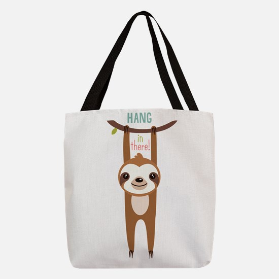 Unique Sloth Polyester Tote Bag