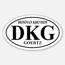 DKG Oval Decal