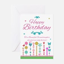 Pretty Granddaughter Birthday Card With Butterflie