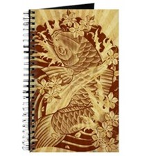 vintage japanese koi fish Journal