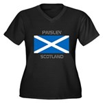 Paisley Scotland Women's Plus Size V-Neck Dark T-S
