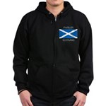Paisley Scotland Zip Hoodie (dark)