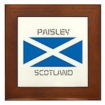 Paisley Scotland Framed Tile