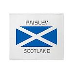 Paisley Scotland Throw Blanket