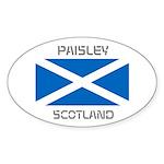 Paisley Scotland Sticker (Oval)