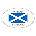 Paisley Scotland Sticker (Oval 10 pk)