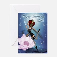Sister Fairy Blowing Bubbles Greeting Card