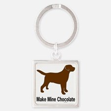 ChocMakeMine2 Square Keychain