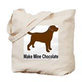 Chocolate labrador Bags & Totes