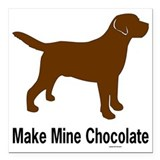 Chocolate lab Square Car Magnets