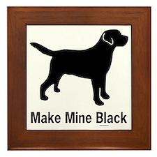 BlkMakeMine Framed Tile