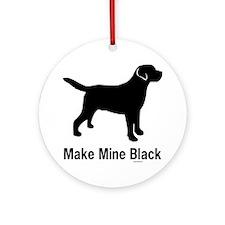 BlkMakeMine Round Ornament