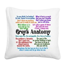 Grey's Quotes Square Canvas Pillow