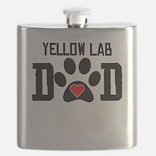 Yellow Lab Dad Flask