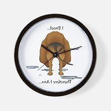 Bloodhound Butt - I Drool Wall Clock