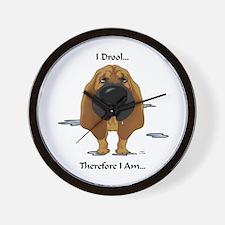Bloodhound - I Drool Wall Clock