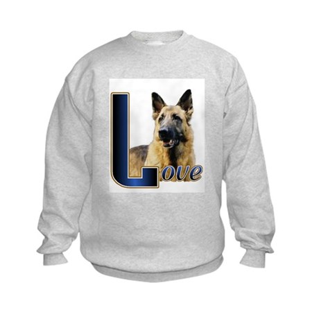 Gernan Shepherd Love Kids Sweatshirt