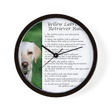 YellowLabRules Wall Clock