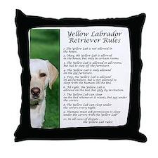YellowLabRules Throw Pillow