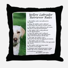 YellowLabRules Throw Pillow