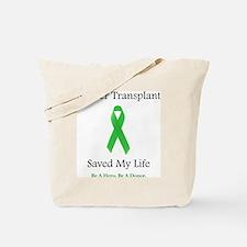 LiverTransplantSaved Tote Bag
