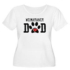 Weimaraner Dad Plus Size T-Shirt