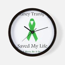 KidneyTransplantSaved Wall Clock