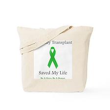 KidneyTransplantSaved Tote Bag