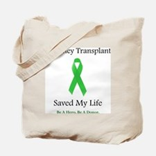 KidneyTransplantSaved Tote Bag