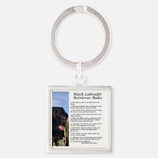 BlackLabRules Square Keychain