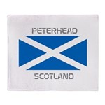 Peterhead Scotland Throw Blanket
