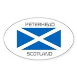 Peterhead Scotland Sticker (Oval 50 pk)