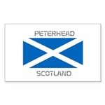 Peterhead Scotland Sticker (Rectangle 50 pk)