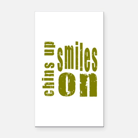 Chins Up Smiles On Rectangle Car Magnet