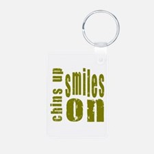 Chins Up Smiles On Keychains