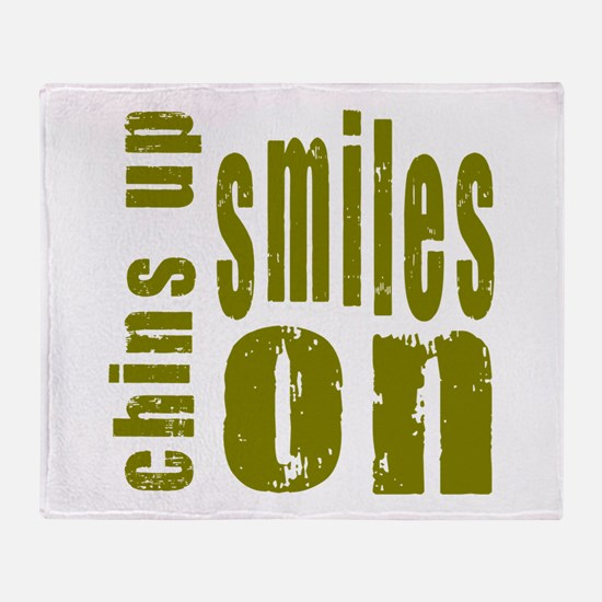 Chins Up Smiles On Throw Blanket