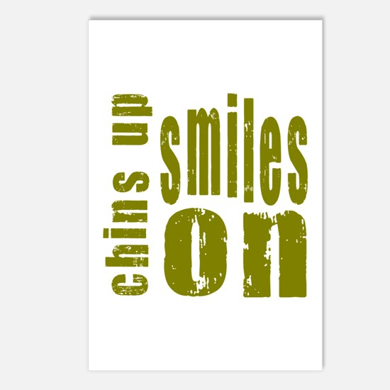 Chins Up Smiles On Postcards (Package of 8)