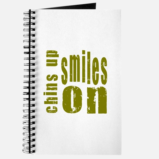 Chins Up Smiles On Journal