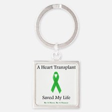 HeartTransplantSaved Square Keychain