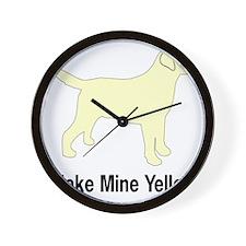 YellMakeMine2 Wall Clock