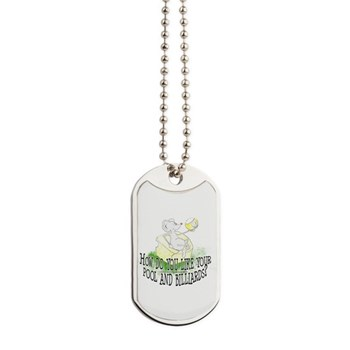 OTC Billiard Mouse Cartoon Dog Tags