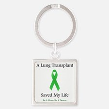 LungTransplantSaved Square Keychain