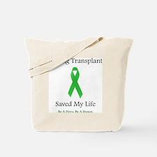 LungTransplantSaved Tote Bag