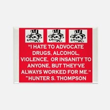 HUNTER S. THOMPSON QUOTE Rectangle Magnet