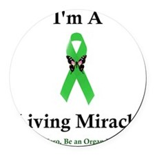 LivingMiracle Round Car Magnet