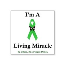 "LivingMiracle Square Sticker 3"" x 3"""
