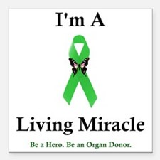 "LivingMiracle Square Car Magnet 3"" x 3"""