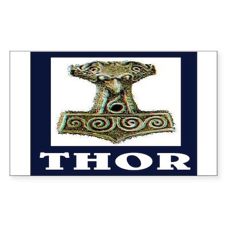 THOR (ORIGINAL) Sticker (Rectangle)