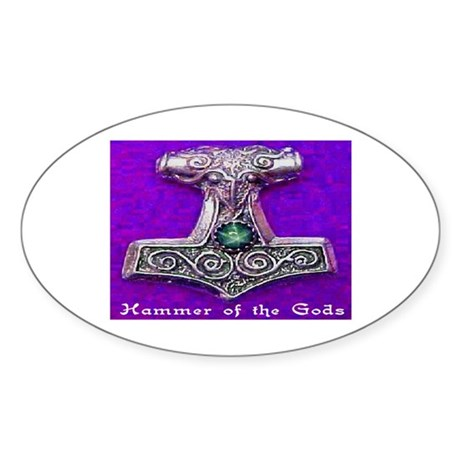 HAMMER OF THE GODS #2 Sticker (Oval)